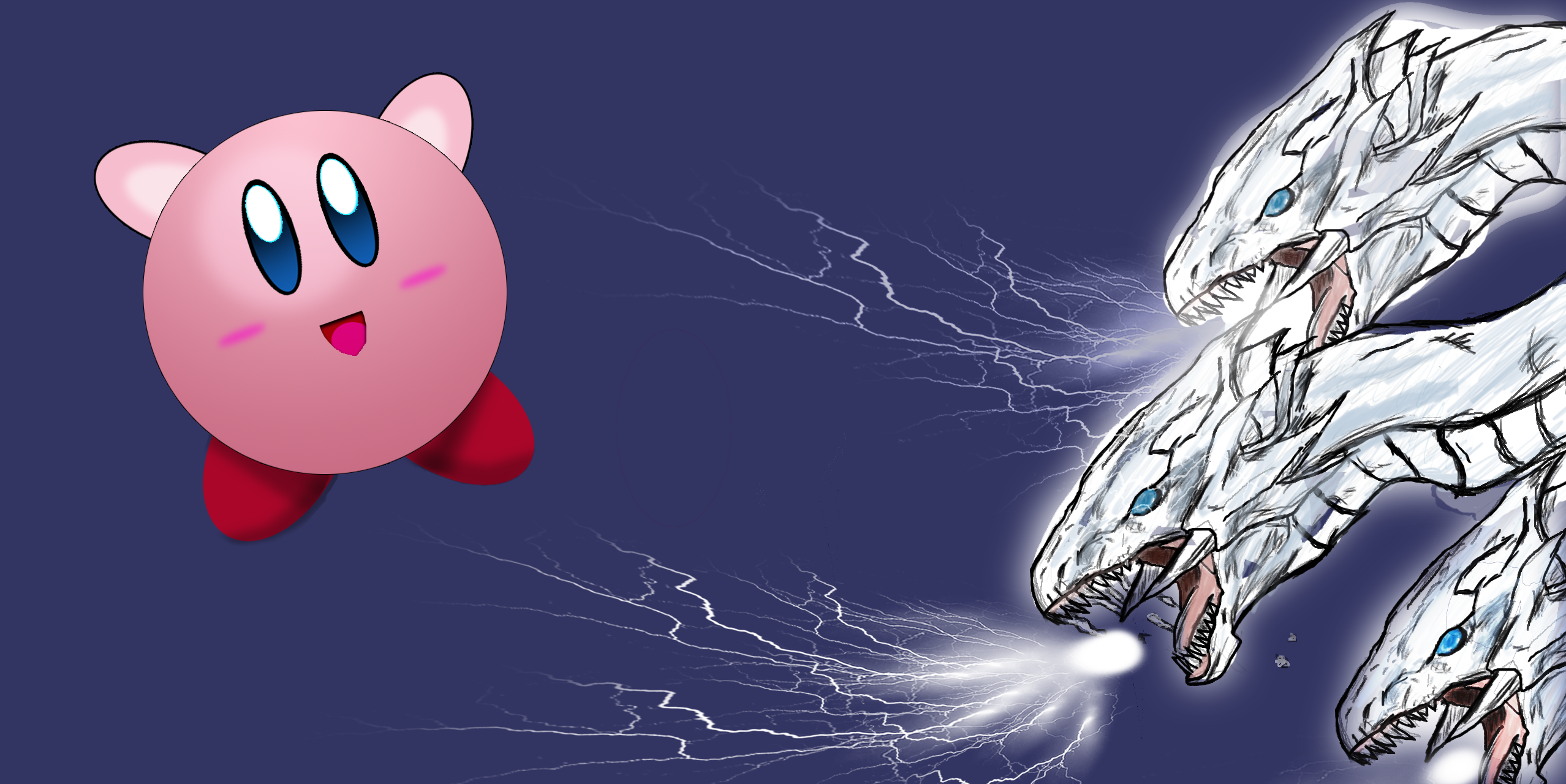 blue eyes vs kirby